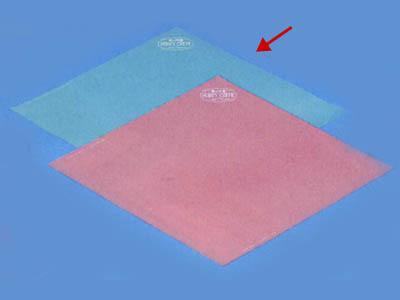 ハニークレープ包装紙 (ブルー)