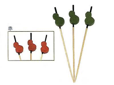 飾り串兵丹7.5cm 赤(100本入)