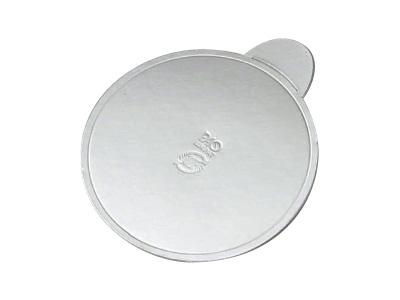 ケーキ台紙 70径(銀)