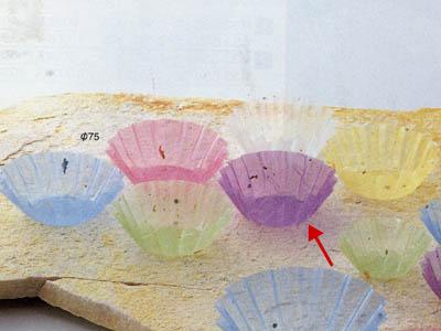 グルメカップ金箔紙 紫 径75(500枚入り)