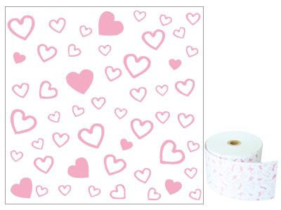 ファンシーレジ用紙 ピンク ハート 58mm