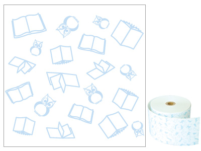 ファンシーレジ用紙 青 本 58mm