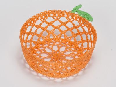 レースカゴ オレンジ 小