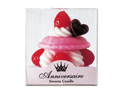マカロンケーキキャンドル ピンク