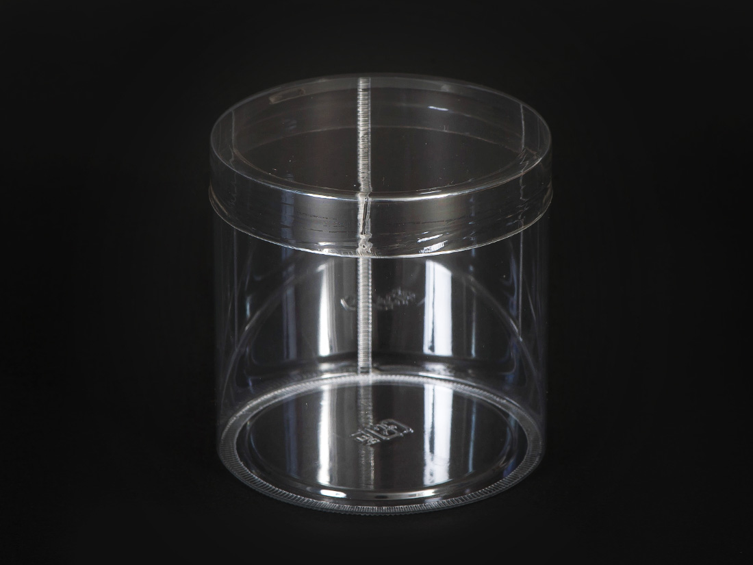 PET円筒ケース 70径×H70mm フタ付