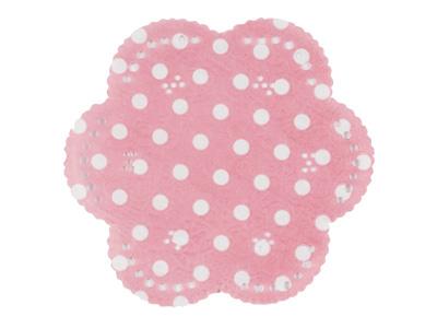 レースコースター(水玉・ピンク)20枚入×6