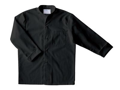 長袖調理シャツ 2-345 (黒) L