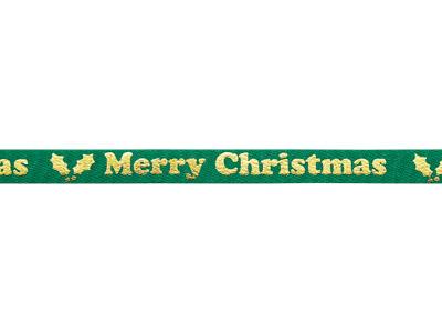 プリントリボン クリスマスホーリー86 6mm