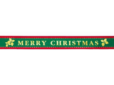 プリントリボン クリスマスローズ86 15mm