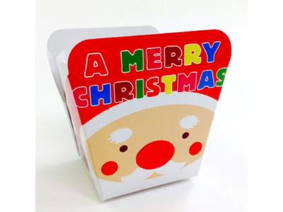 FK481 クリスマス フラワーボックス(サンタと雪ダルマ)