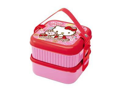 キティ(くまとリボンスイーツ)2段ピクニックボックス