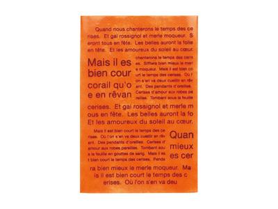 ソフトバッグクリア柄入り フレンチ柄 オレンジ(S1)