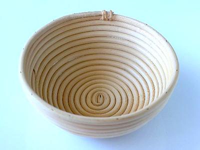 籐製発酵カゴ 丸型(径19)