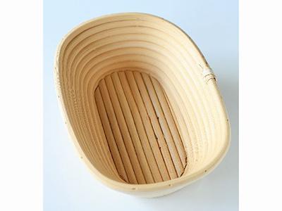 籐製発酵カゴ 小判型 小
