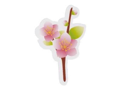 ケーキピック 桃の花