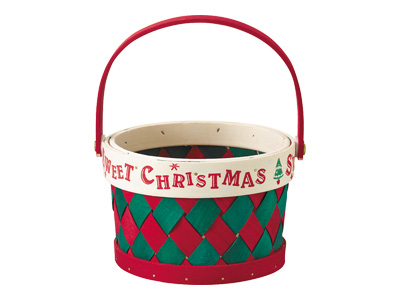 クリスマスチェックバスケット
