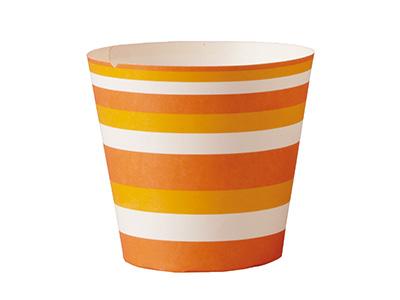 CA31 ベーキングカップ カフェスイーツ(オレンジボーダー)