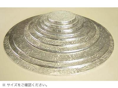 KM ケーキハードボード 丸 銀 12インチ
