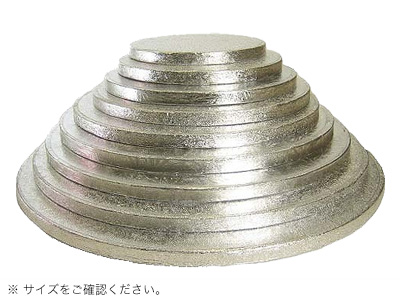 KM ケーキドラム 丸 銀 13インチ