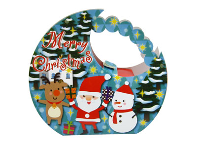 クリスマスギフト箱 サンタの森キャリー(月)