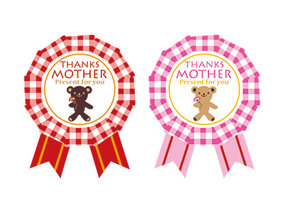 シール ママにメダルを!(2色×各12片入)