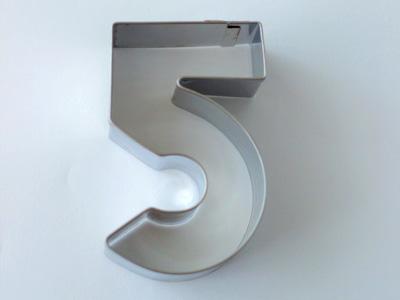 BIRKMANNクッキー型 数字5