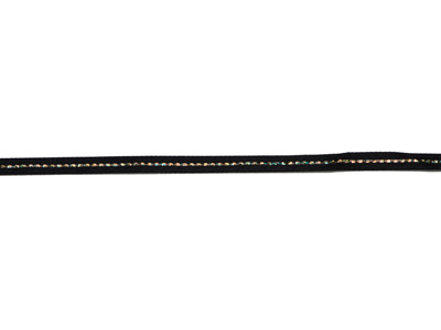 グリッターWサテン・ゴールド117ブラック6mm