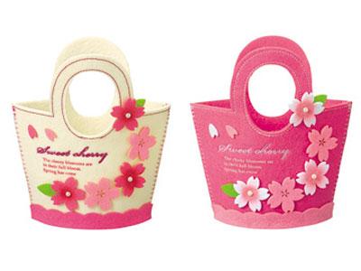 5連桜のプチトート(2色アソート)