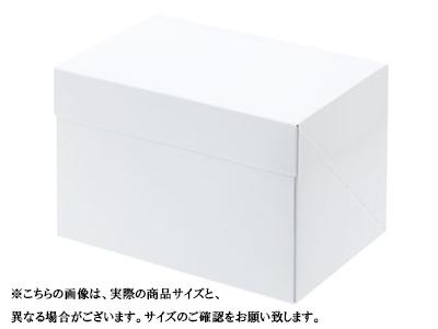 ケーキ箱 スライドオープンボックス125 ホワイト 15×21