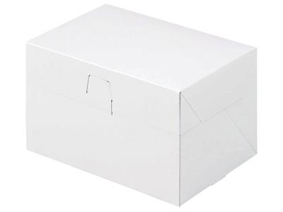 ケーキ箱 ロックBOX 105-ホワイト 3.5×5