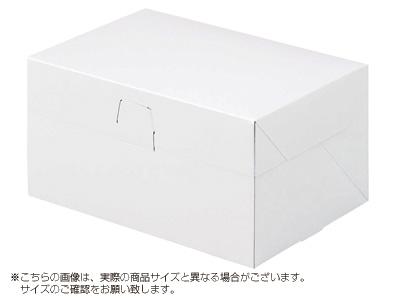 ケーキ箱 ロックBOX 105-ホワイト 6×8
