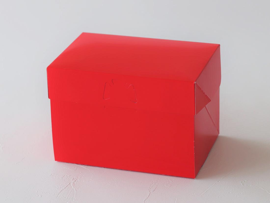 ケーキ箱 ロックBOX 105-レッド 3.5×5