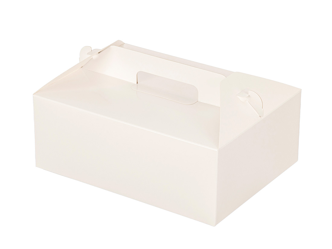 ケーキ箱 HBホワイトP 6×8