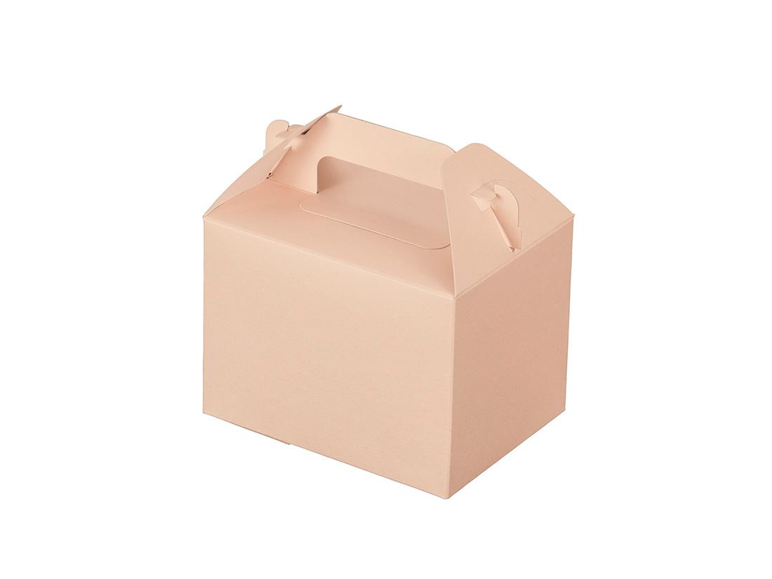 ケーキ箱 カラーHB ピンク 3×4