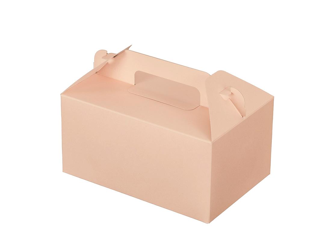 ケーキ箱 カラーHB ピンク 4×6