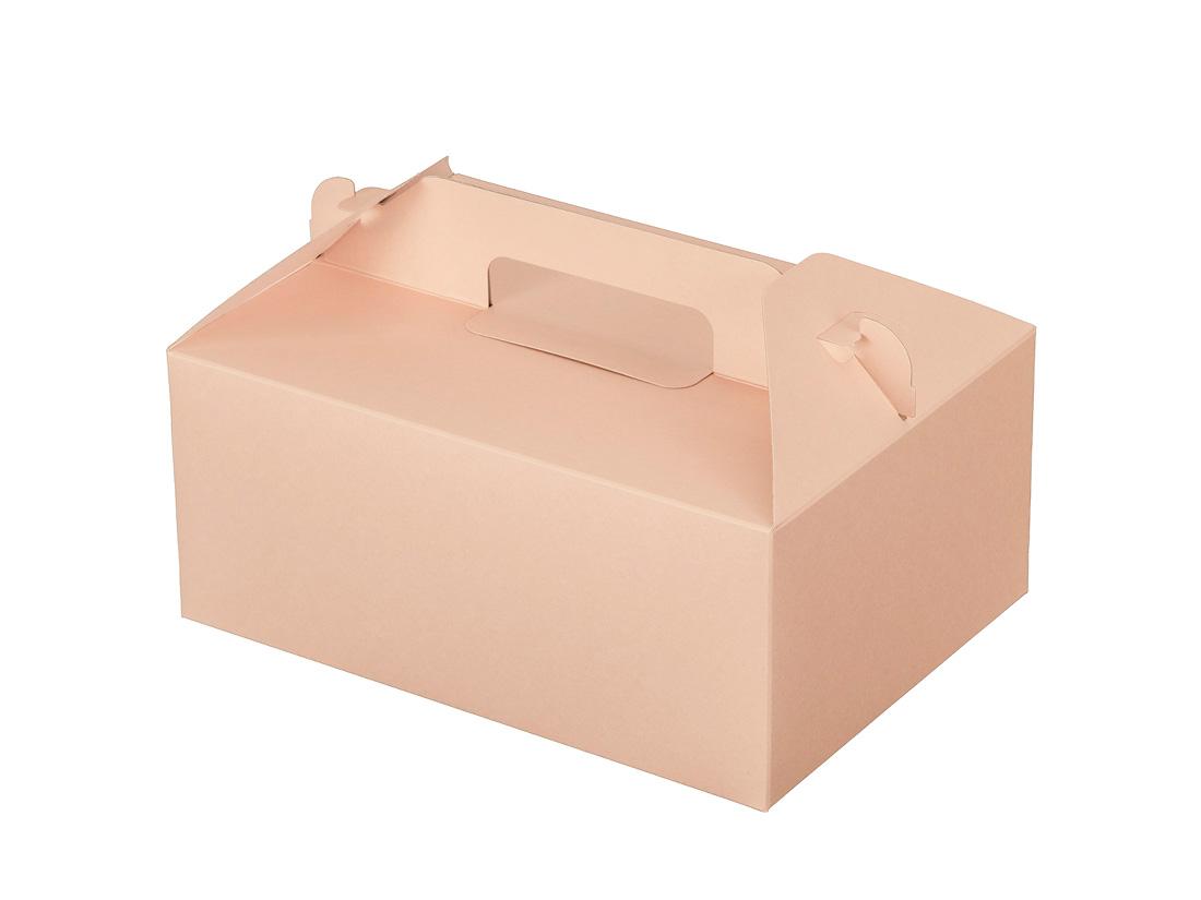 ケーキ箱 カラーHB ピンク 5×7