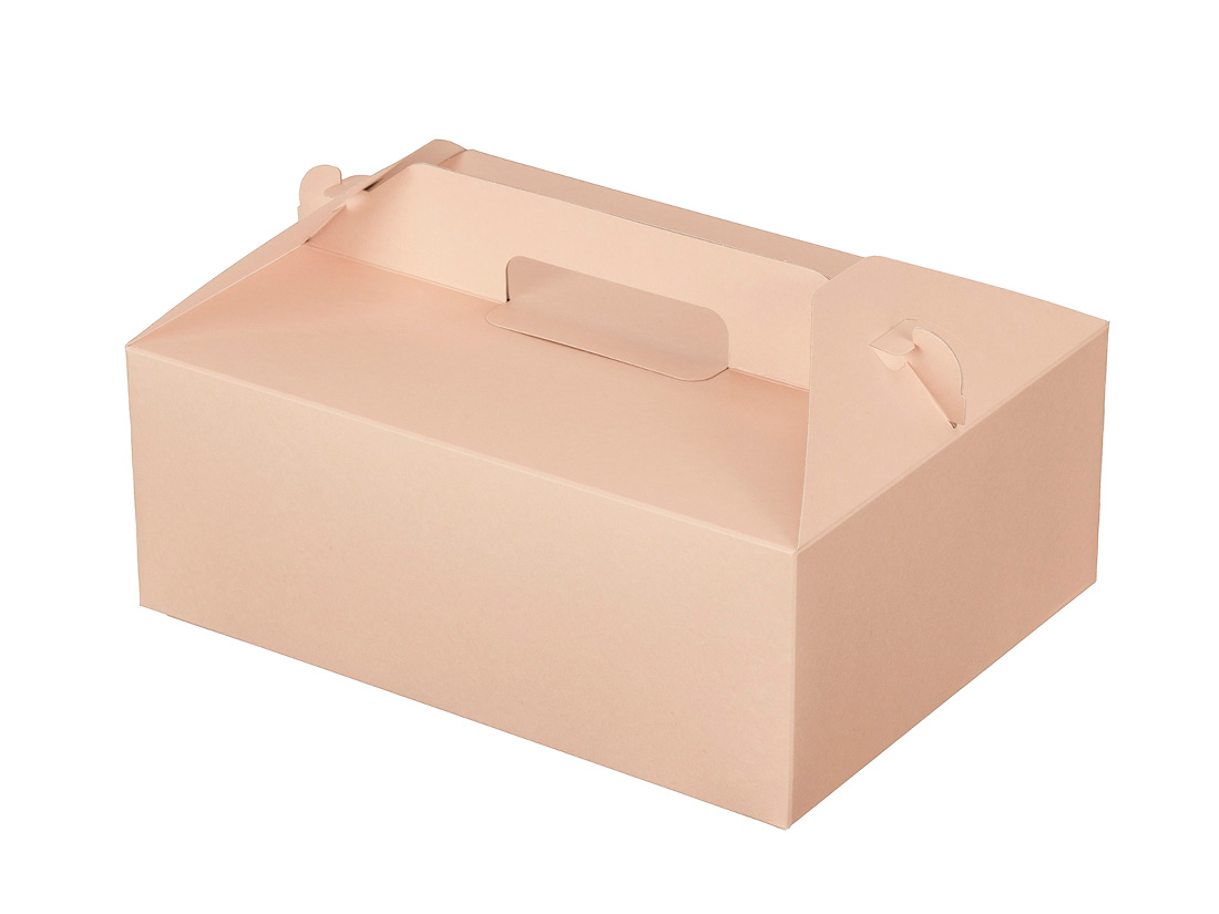 ケーキ箱 カラーHB ピンク 6×8