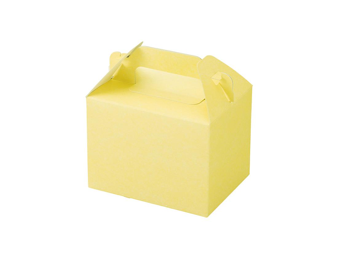 ケーキ箱 カラーHB クリーム 3×4