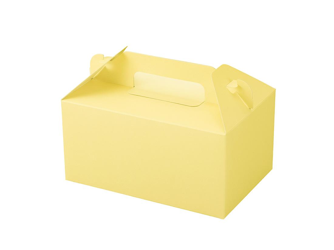 ケーキ箱 カラーHB クリーム 4×6