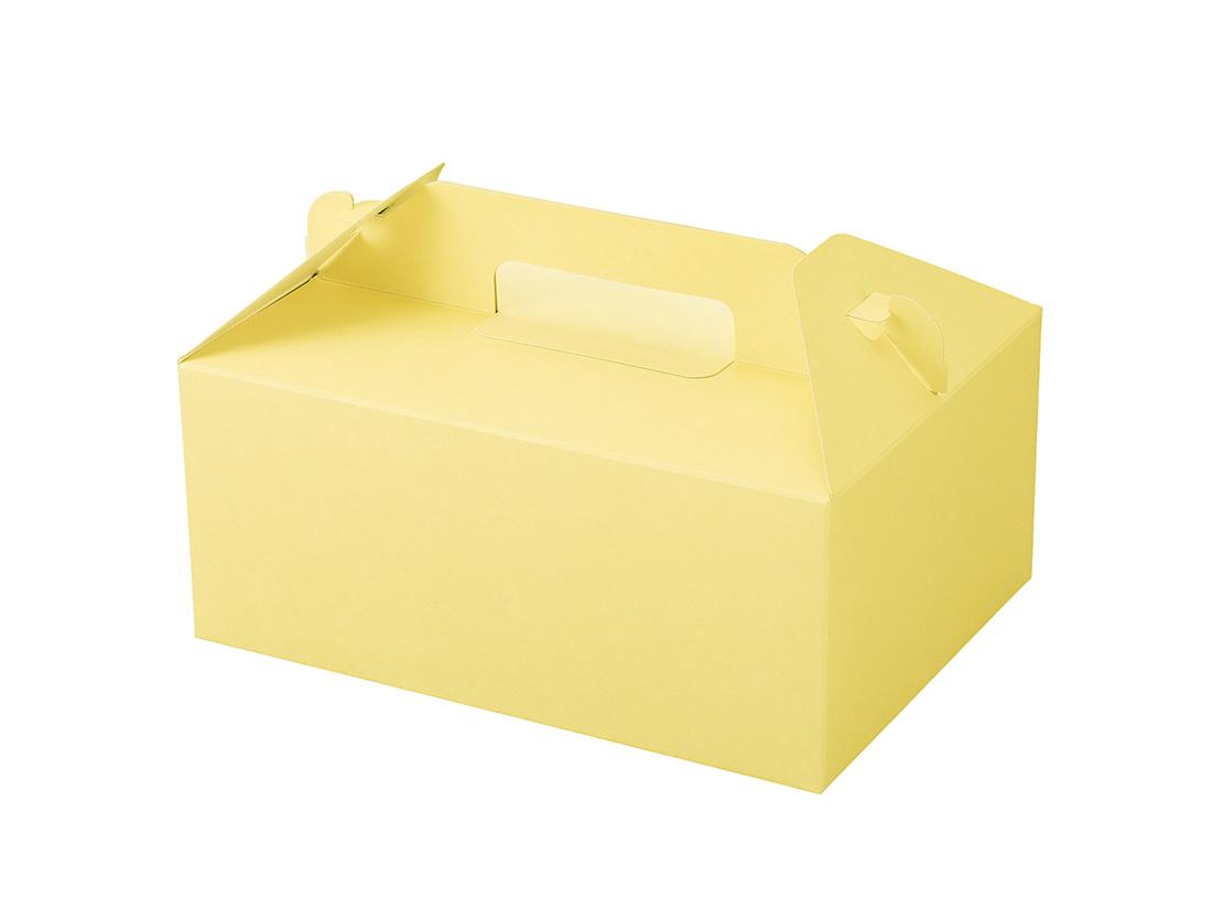 ケーキ箱 カラーHB クリーム 5×7