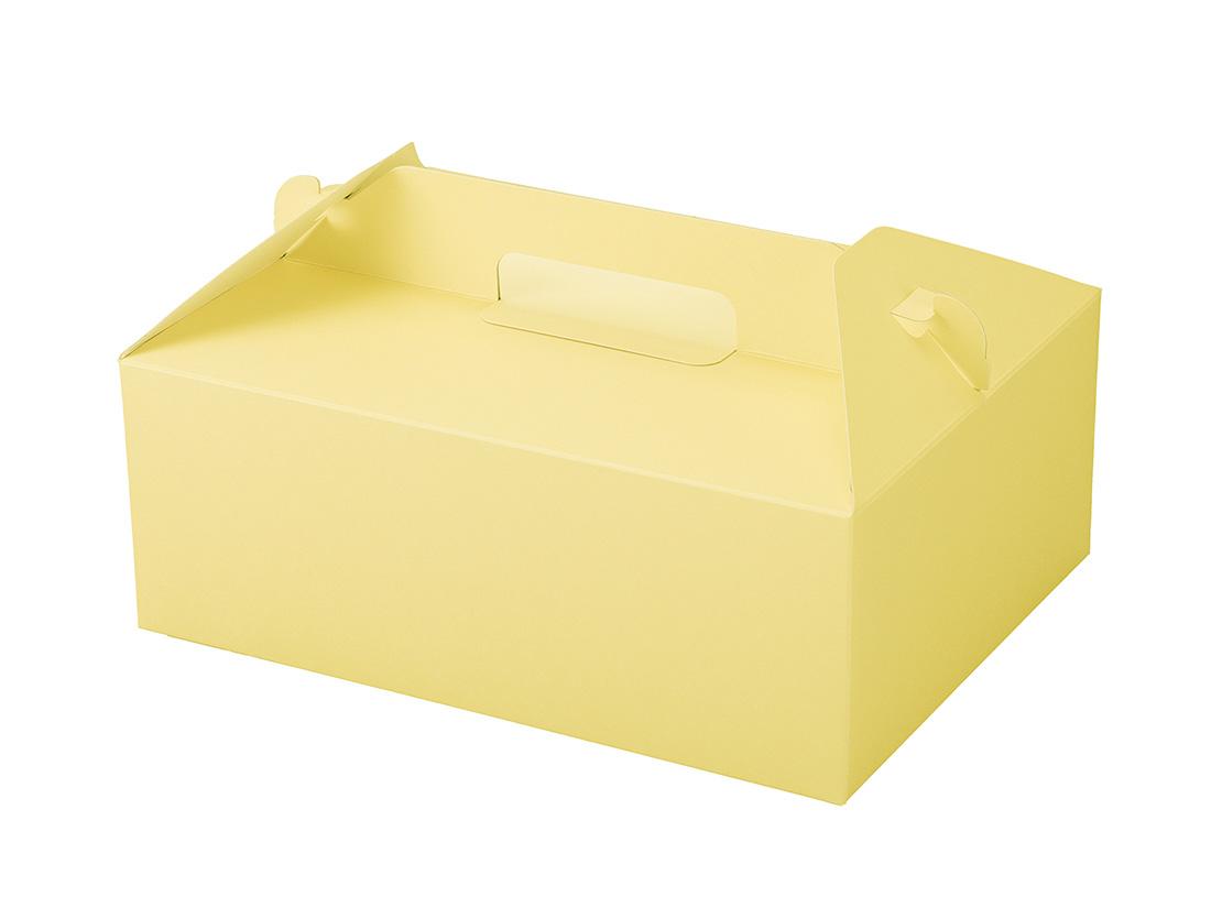 ケーキ箱 カラーHB クリーム 6×8