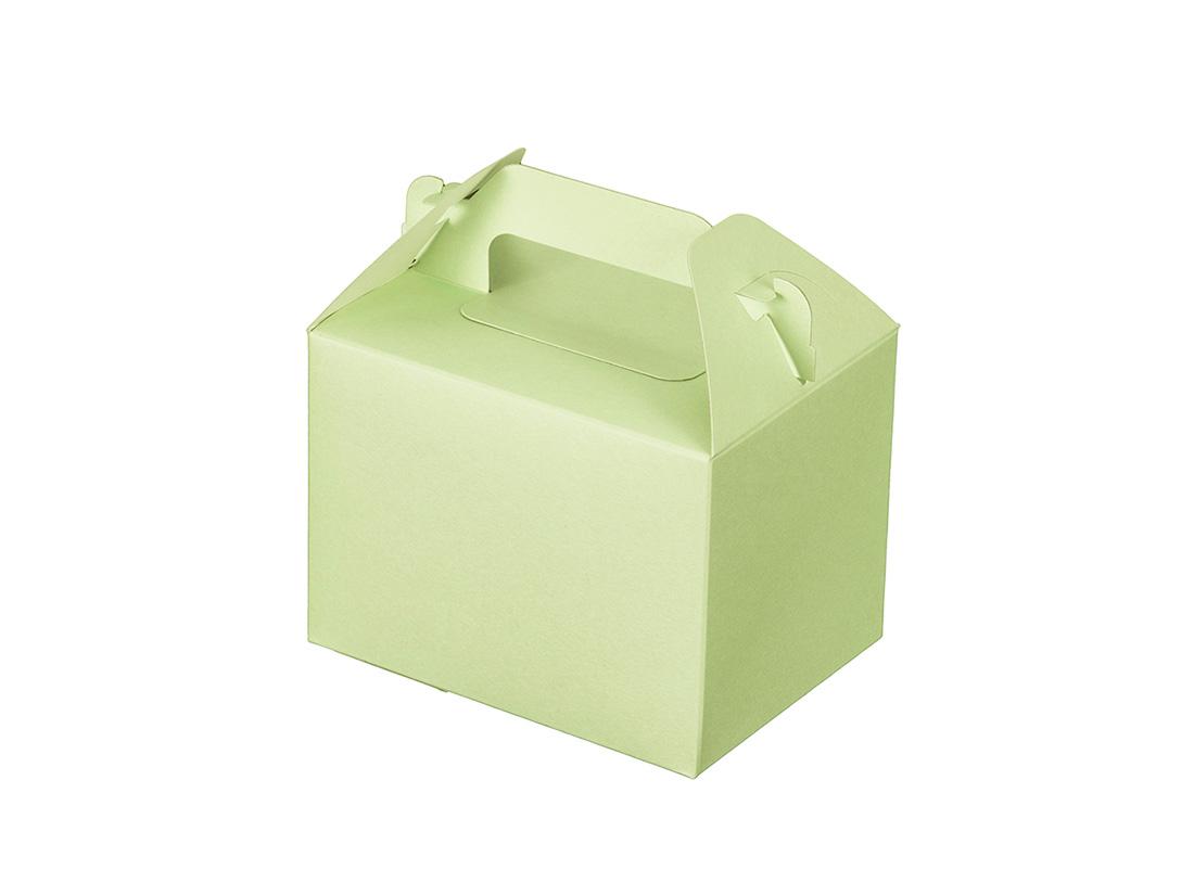 ケーキ箱 カラーHB グリーン 3×4