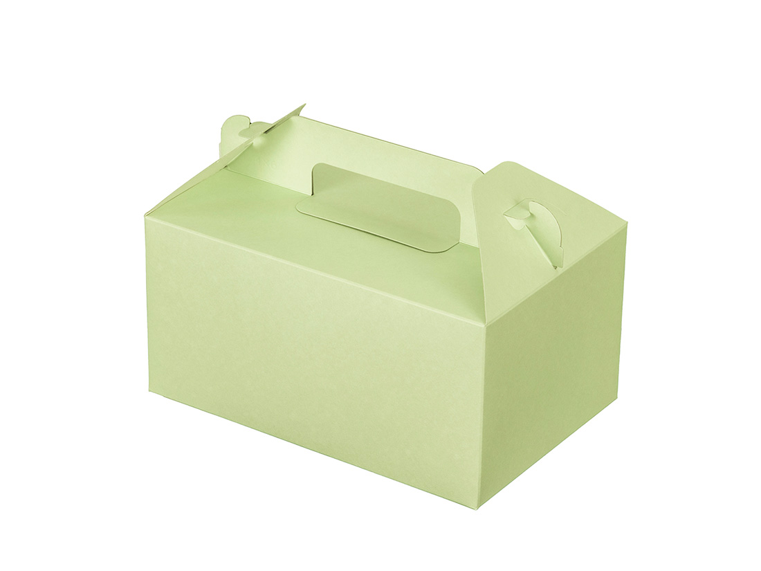 ケーキ箱 カラーHB グリーン 4×6