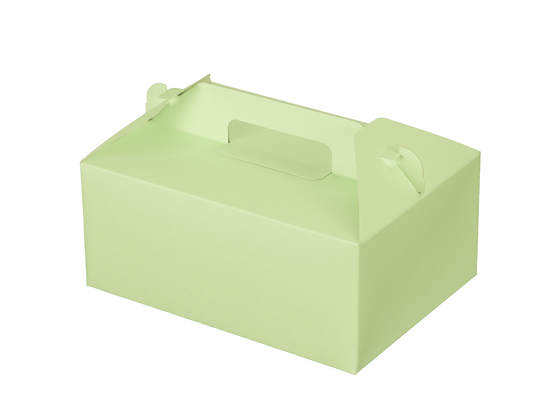 ケーキ箱 カラーHB グリーン 5×7
