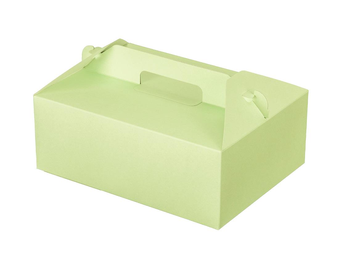ケーキ箱 カラーHB グリーン 6×8
