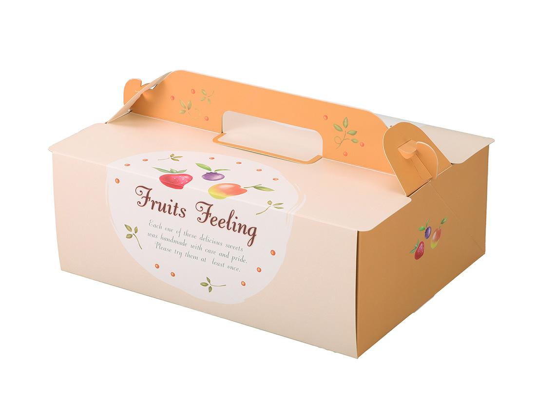 ケーキ箱 OPL-フルーツ 6×8
