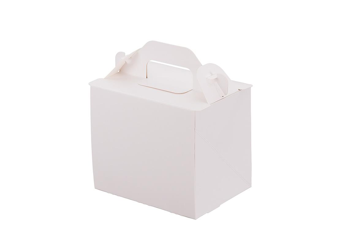 ケーキ箱 新105 OPL-ホワイト 3×4