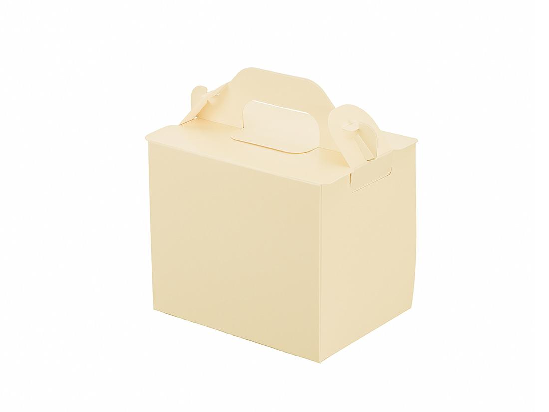 ケーキ箱 105折OPL-バニラ 3×4