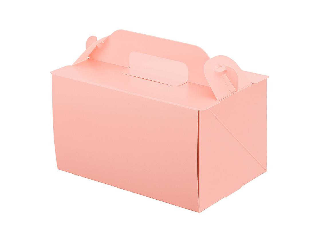 ケーキ箱 105OPL-ピーチ 4×6