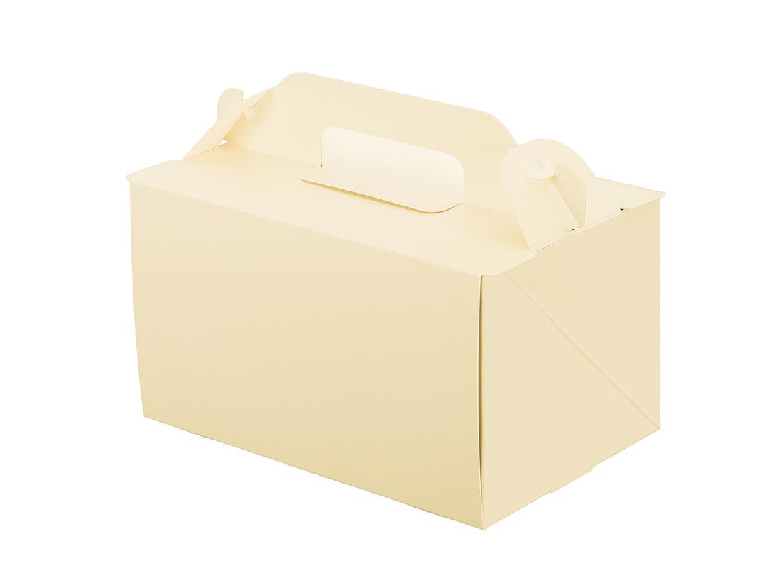 ケーキ箱 105OPL-バニラ 4×6